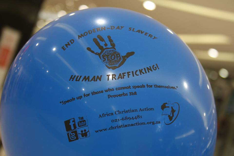 End Modern slavery balloon